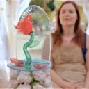 De roos uit suikerwerk geïnspireerd op 'Beauty and the Beast', de pièce montée op mijn spektakelstuk © VIER