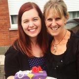 Mijn schoonmama Dominique die me gedurende het hele Bake Off avontuur altijd gesteund heeft